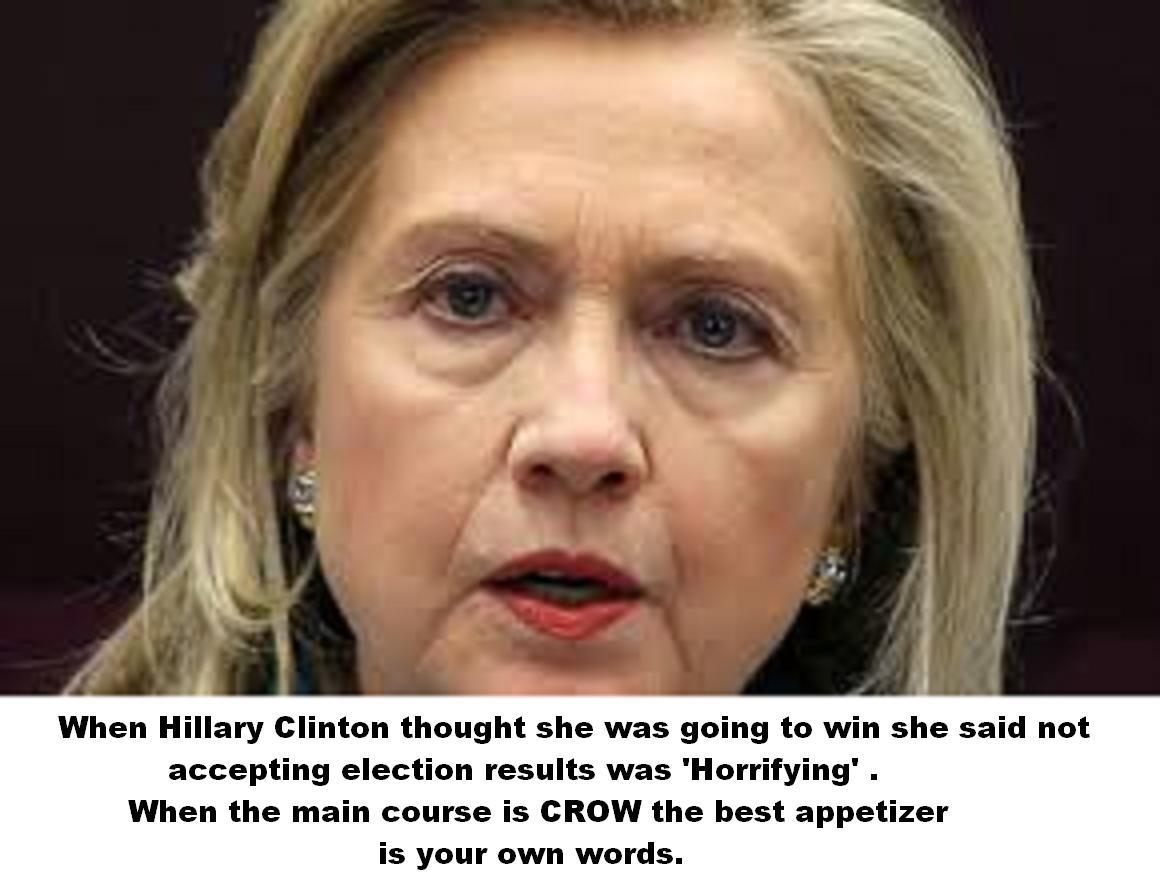 Hillary Clinton EATING CROW
